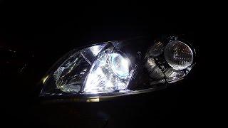 Toyota Camry V40 установка би светодиодных мудулией и замена стекла фар  Тюнинг фар Toyota Camry
