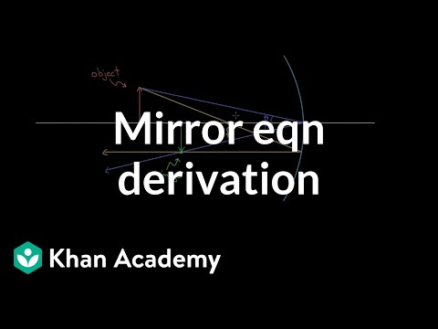 Derivation of the mirror equation | Geometric optics | Physics | Khan Academy