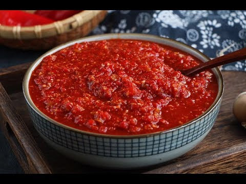 辣椒醬好吃有訣竅,快來學習下秘制做法(How to make delicious chili sauce)