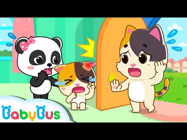 Baby Kitten Bumped Her Head | Home Safety Tips for Kids | Baby Kitten's Life | Baby Song  | BabyBus