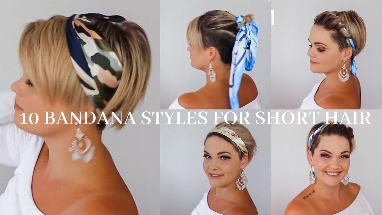 10 Bandana Styles For Short Hair Salirasa Youtube