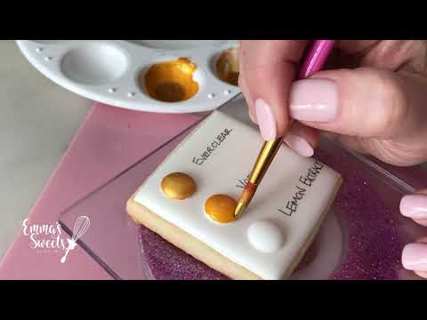 Painting With Hybrid Lustre Dust By Emma's Sweets