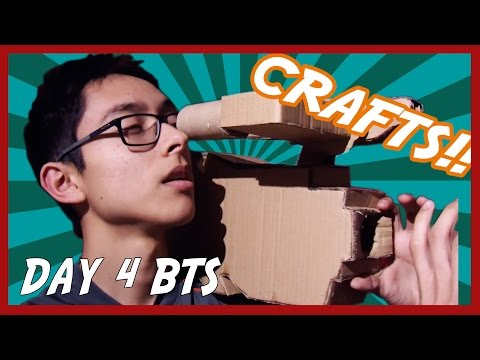 I BUILT A CARDBOARD CAMERA | Day 4 BTS