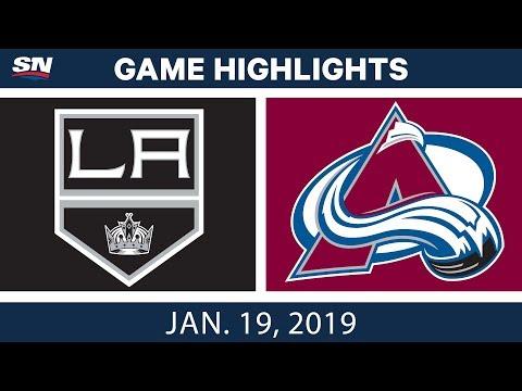 NHL Highlights | Kings vs. Avalanche - Jan. 19, 2019