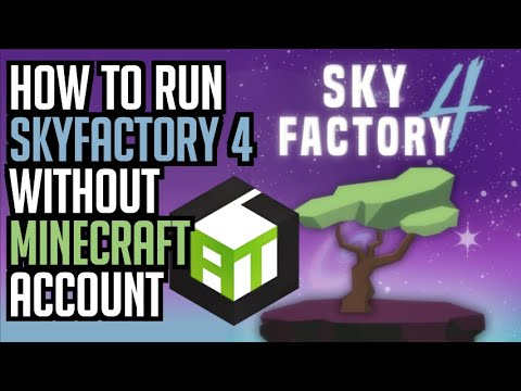 SKY FACTORY 4 MODPACK 1.12.2 Minecraft - How To Download And Install Without Minecraft Account
