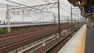 『東海道新幹線N700系とコラボ』名鉄3314F急行新鵜沼行き,栄生駅発車