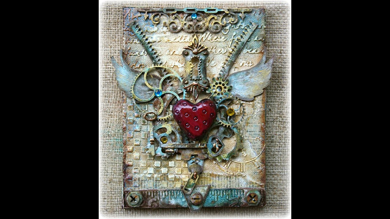 Steampunk Style Mixed Media Canvas Doovi