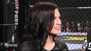 Gina Carano Returns!  Announcement at Strikeforce Heavyweights - SHOWTIME