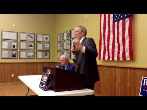 Tom Hoefling speaks to Jones County Republicans, May 8, 2014