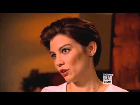 Talking Dead - Lauren Cohan on working with Melissa McBride streaming vf
