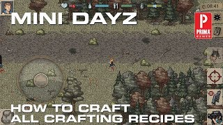 mini dayz how to craft all crafting recipes
