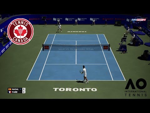 🏸 RAFAEL NADAL VS BENOIT PAIRE | ROGERS CUP 2018 | AO INTERNATIONAL TENNIS 2018 | GAMEPLAY