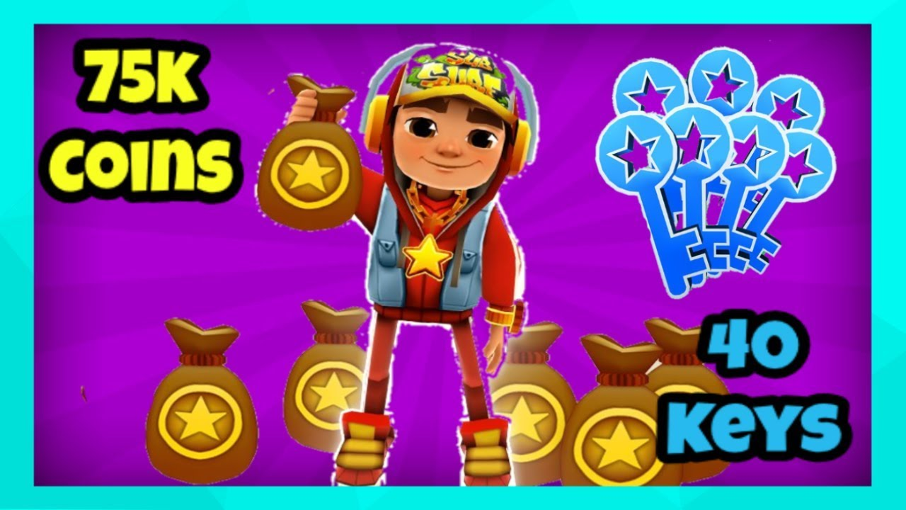 75k Coins Or 40 Keys Subway Surfers Promo Code Giveaway
