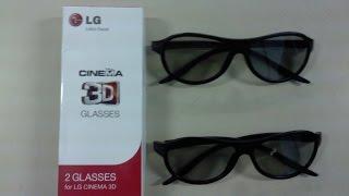 Unboxing LG Cinema 3D Glasses
