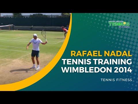 Rafael Nadal Wimbledon 2014 Tennis Training