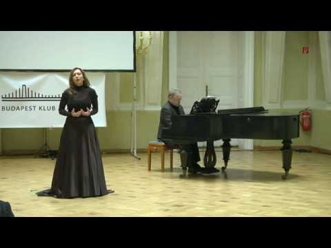 Andrea Rost's Performance at The Club Of Budapest's 21st Anniversary Conference