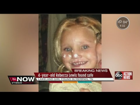 4-year-old Rebecca Lewis found safe