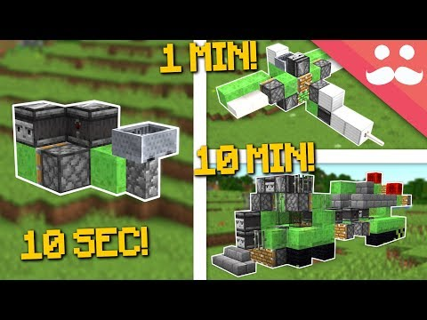MINECRAFT VEHICLES: 10 Minute, 1 Minute, 10 Seconds!