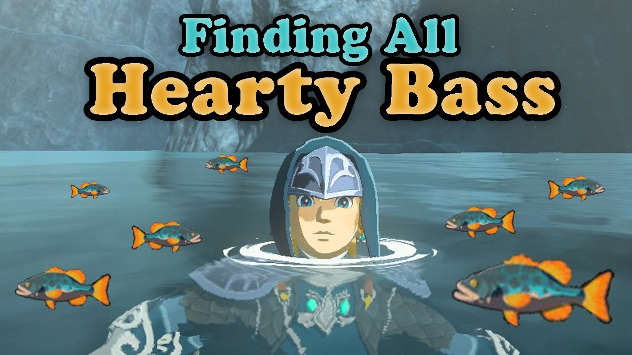 Botw Finding All Hearty Bass Youtube