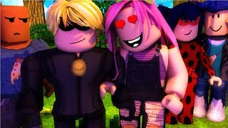 WE KNOW LADYBUG AND CAT NOIR AND INVITE US TO YOUR WORLD 🐞 Roblox Español