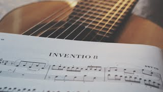 J. S. Bach Invention No 8 no transposition on a 10 String Guitar