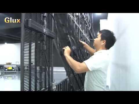 Glux BAtn Series Rental LED Display Screen Module Change(single person) Demonstration