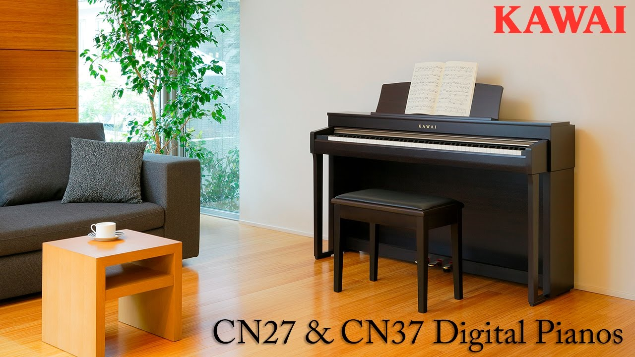 kawai cn27 and cn37 digital pianos youtube. Black Bedroom Furniture Sets. Home Design Ideas