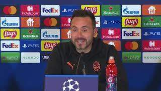 Roberto De Zerbi🎙   Shakhtar Donetsk v Inter Milan   Pre-Match Press Conference