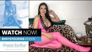 Dani Thompson : Shirley of Hollywood hot pink and black bodystocking [PREVIEW]