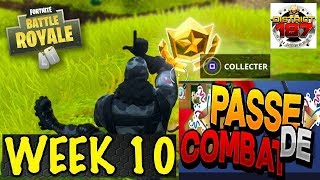 FORTNITE DEFI PAS OF COMBAT WEEK 10 FOUILLER IN A CERCLE OF PIERRES,A PONT ... TUTO