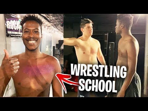 My First Day At Wrestling School