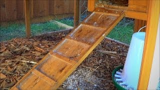 Make a Chicken Coop Ladder Adjustable with a Piano Hinge