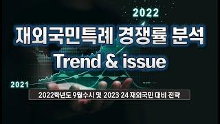 2022학년도 재외국민(3년특례) 경쟁률 분석 설명회 [21.8.20)