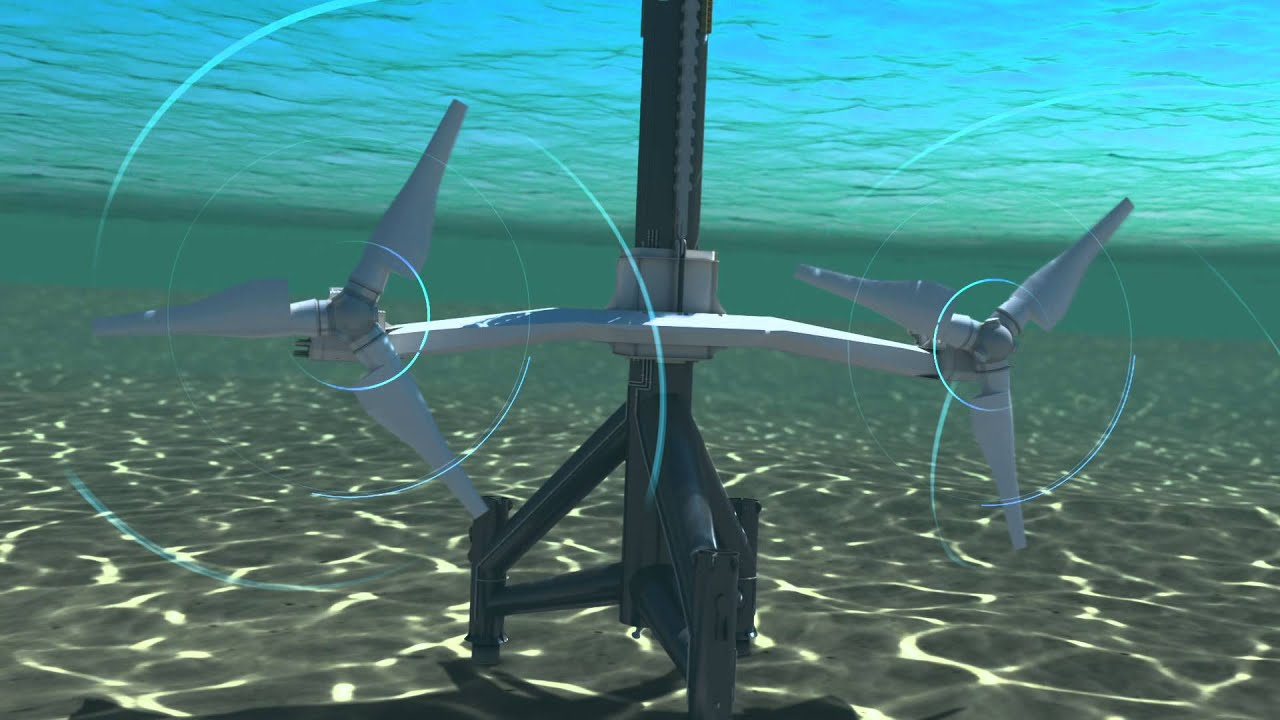 SeaGen Turbine Animation (Marine Current Turbines) - YouTube