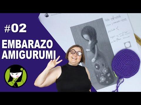 Mujer embarazada amigurumi 02 base tejida a crochet