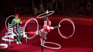 Circus The Gymnast With Hoops