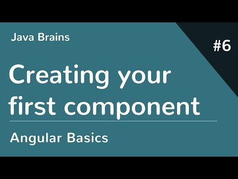 Angular 6 Basics 6 - Creating your first component thumbnail
