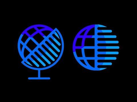 Logo design tutorial. Globe logo in adobe Illustrator thumbnail