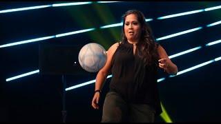 Yo Soy: Katia Palma demostró sus habilidades con el balón