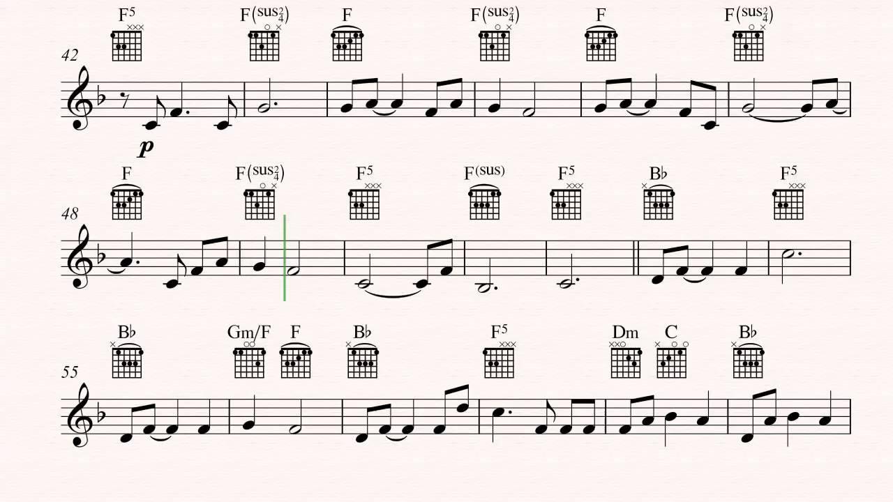 Guitar Nemo Egg Finding Nemo Sheet Music Chords Vocals