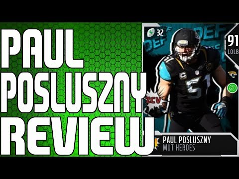 91 MUT HERO PAUL POSLUSZNY REVIEW | MADDEN 18 ULTIMATE TEAM PLAYER REVIEW