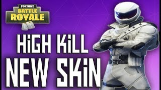 New Skins High Kill Gameplay - New Overtaker Whiteout Fortnite Battle Royale Gameplay