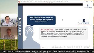 How to make the move to a third party support provider for Oracle SW