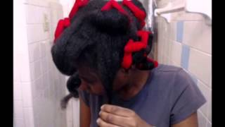 Remington Beach Rollers on Natural Hair. Thumbnail