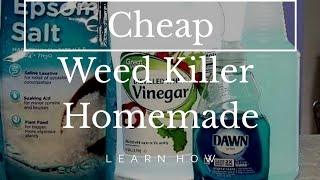 Cheap Weed Killer - Homemade-DIY-Roundup-Natural
