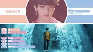 Baixar BTS   FAKE LOVE Line Distribution Color Coded  방탄소년단.by HEXA6ON