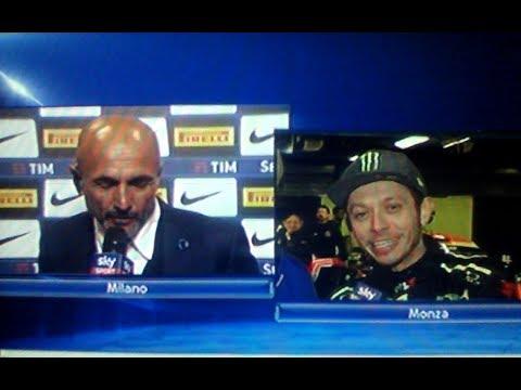 Inter Chievo 5 0 - Spalletti vs Valentino Rossi a Sky Sport