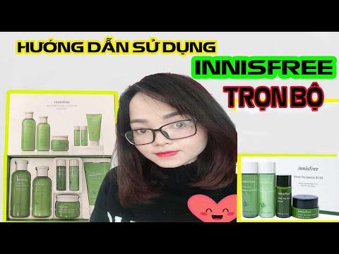 [ Review ] trọn bộ dưỡng ẩm da Innisfree Trà Xanh Hàn Quốc Mới Nhất | Innisfree Green Tea