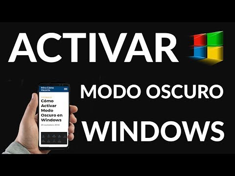 Cómo Activar Modo Oscuro en Windows
