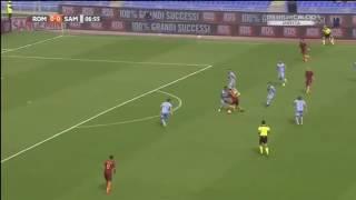 Roma Sampdoria 3-2 Totti gol Zampa esplode
